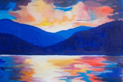 "Okanagan Lake, acrylic on canvas, 16x20"", $250"