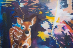 "BC Fawn, acrylic on canvas, 36x48"", $700"
