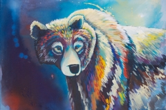 "Kelowna Bear, acrylic on canvas, 36x42"",$750"