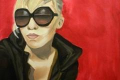 """Lollo, acrylic on canvas, 36x48"""""""