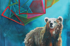 Ursa Major, acrylic on canvas, donated to Vernon Public Art Gallery Fundraiser