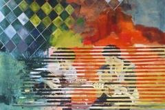 """Hanoi Street Music, acrylic on canvas, 48x60"""", $1500"""