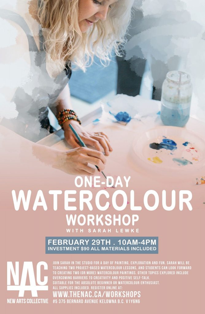 One Day Watercolour Workshop Poster